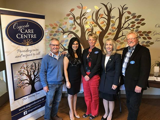 Thank you very much Hon. @merrileefullertonmpp, Minister of Long-term Care, for joining me today at the Osgoode Care Centre. We had a very productive discussion about what our government can do to support seniors & caregivers across Carleton.